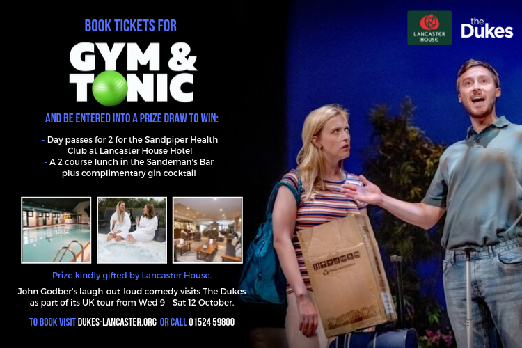 Book tickets for Gym & Tonic and be in with the chance of winning a spa day for 2!